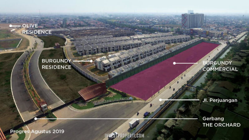 Lokasi Burgundy Commercial Summarecon Bekasi
