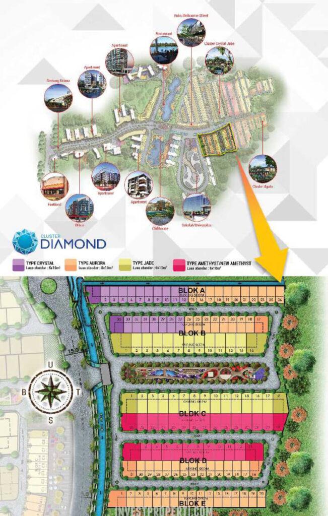 Lokasi Cluster Diamond Golden Stone Serpong
