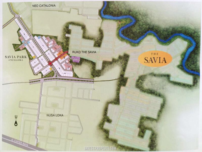 Lokasi Cluster Savia Park BSD