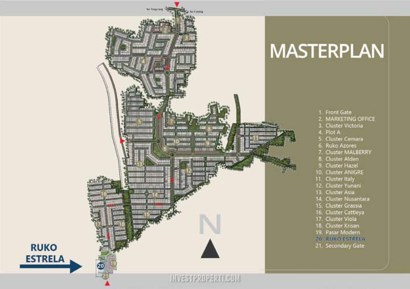 Master Plan Banjar Wijaya - Lokasi Ruko Estrela