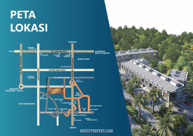 Peta Lokasi Estrela Banjar Wijaya Tangerang