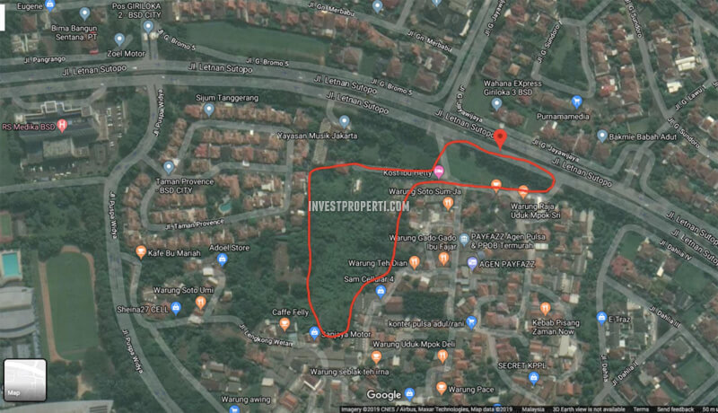 Peta Lokasi Provence Suites BSD