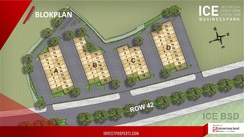 Site Plan ICE Business Park Blok Plan