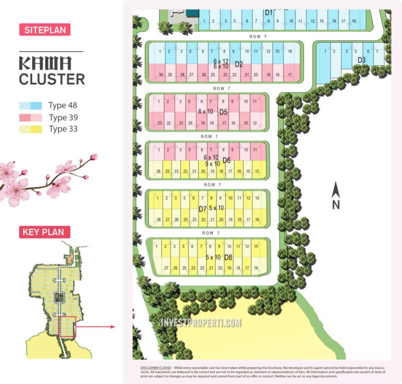 Siteplan Cluster Kawa - Kana Park BSA Land