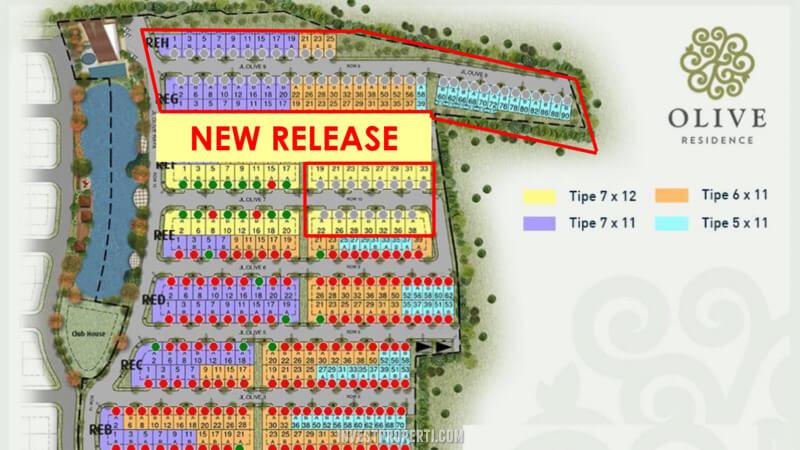 Siteplan Olive Residence Summarecon bekasi