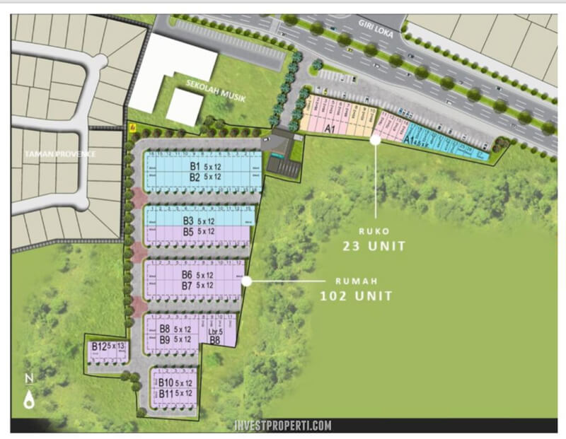 Site Plan Provence Suites BSD City