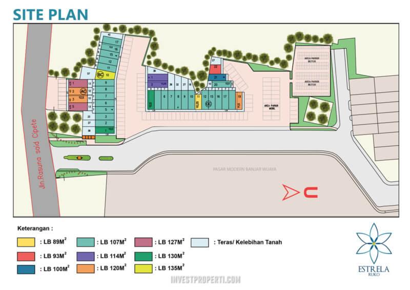 Siteplan Ruko Estrela Banjar Wijaya Tangerang
