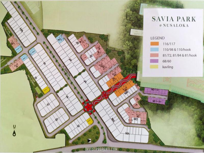 Siteplan Savia Park Nusaloka BSD
