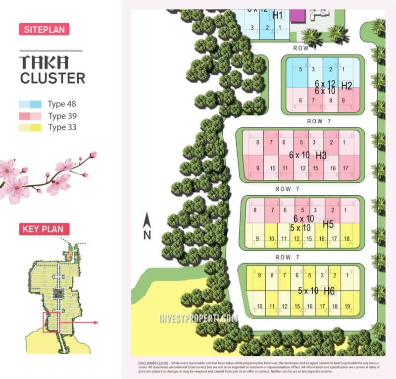Siteplan Cluster Taka - Kana Park BSA Land