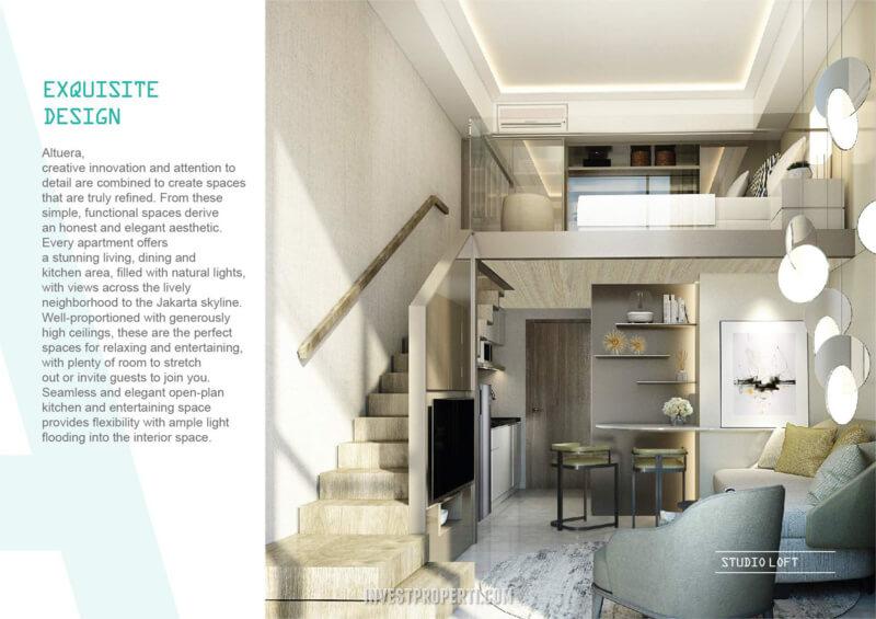 Design Apartemen Altuera Jakarta Tipe Studio Loft