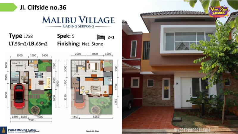 Malibu Village jln Clifside No 36