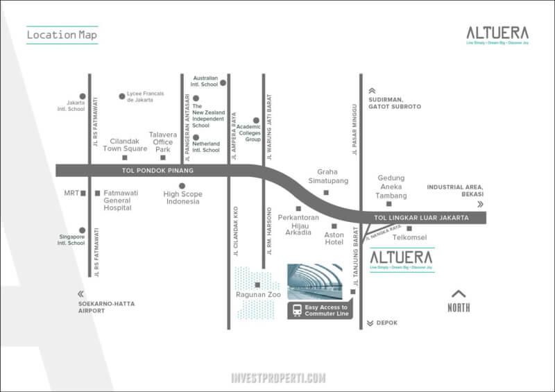 Peta Lokasi Apartemen Altuera Jakarta