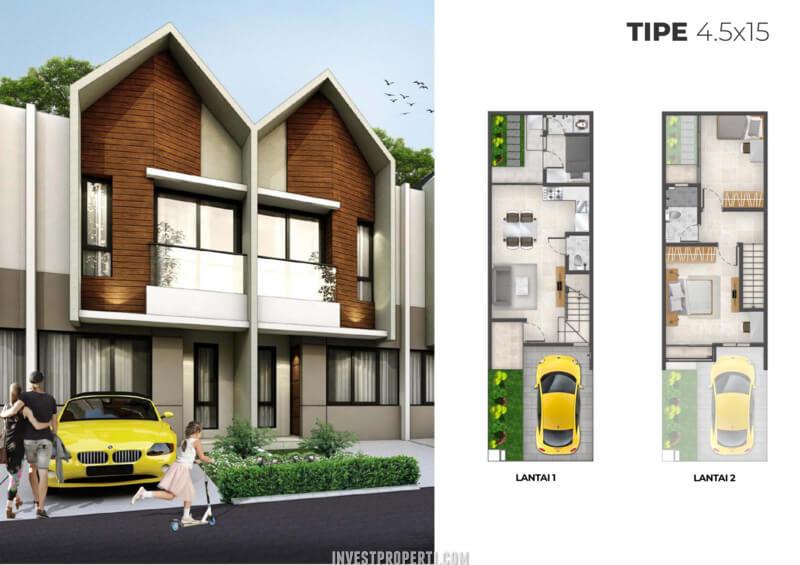 Rumah Cluster Alabama PIK2 Tipe 4.5x15