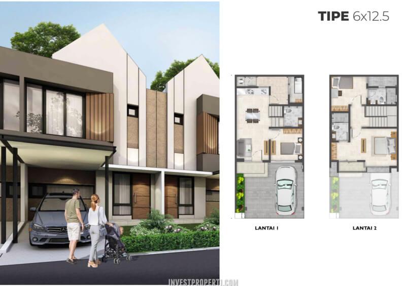 Rumah Cluster Alabama PIK2 Tipe 6x12.5