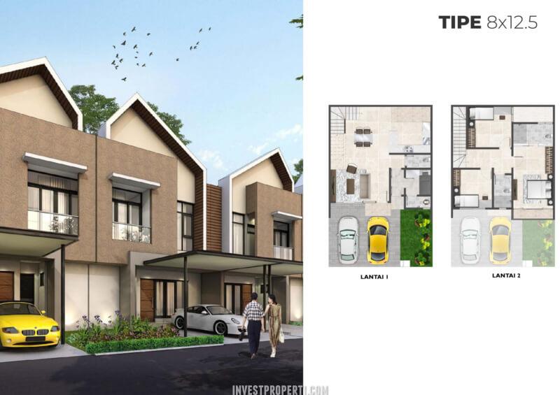 Rumah Cluster Alabama PIK2 Tipe 8x12.5