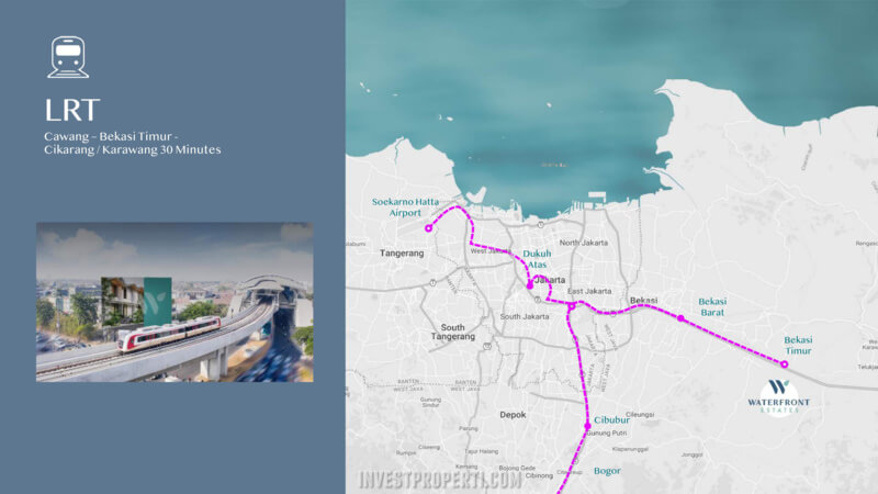 Akses LRT - Waterfront Estate Lippo Cikarang