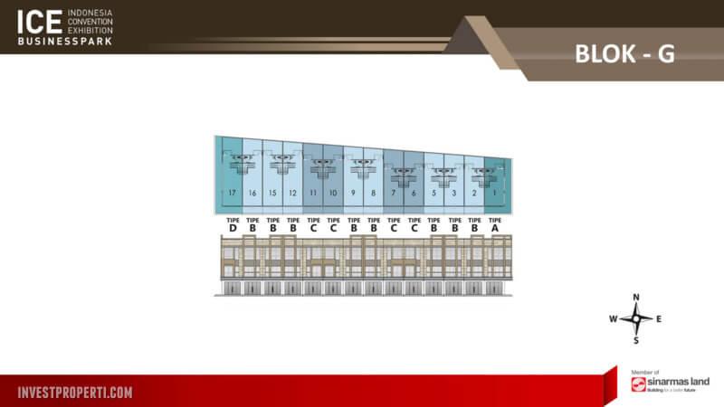 Denah Blok G Ruko ICE Business Park