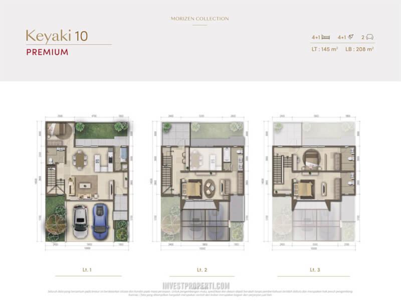 Denah Rumah Morizen - Keyaki 10 Premium