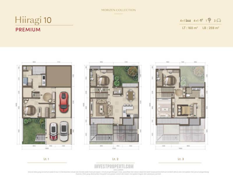 Denah Rumah Morizen - Hiiragi 10 Premium
