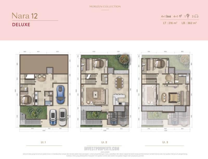 Denah Rumah Morizen - Nara 12 Deluxe