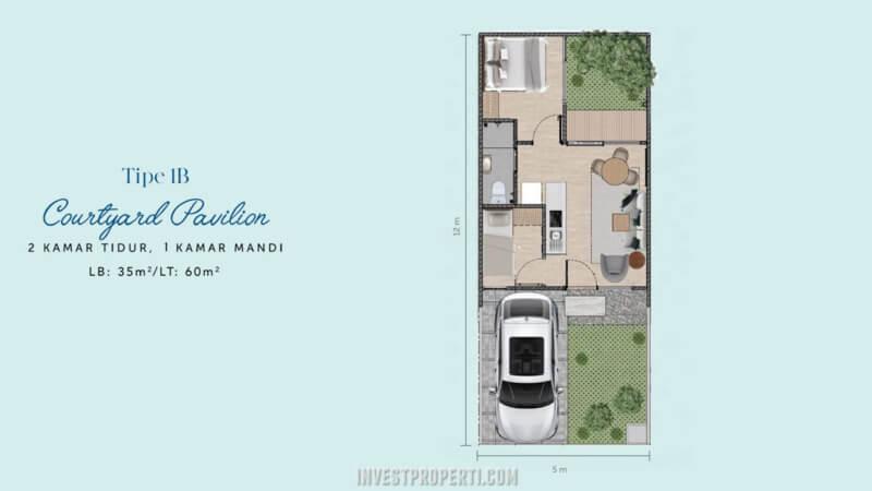 Denah Rumah Waterfront Estate Lippo Cikarang Tipe 1B