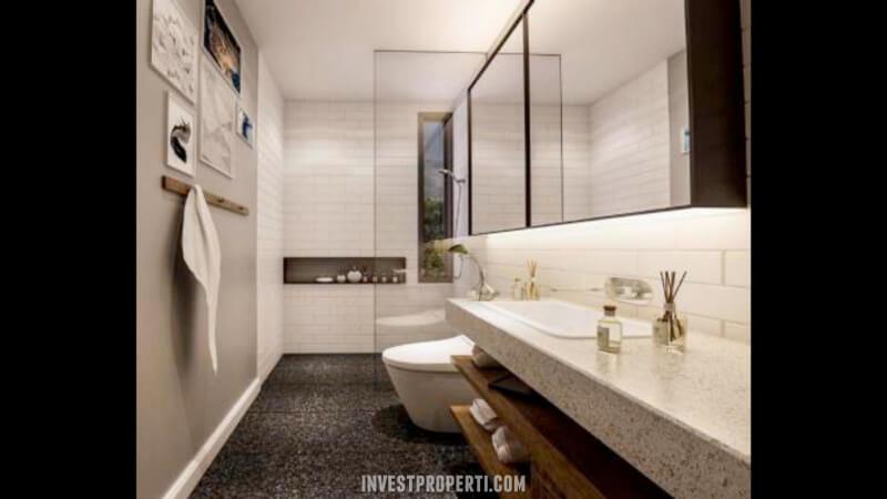Design Bathroom Rumah Waterfront Estate Lippo Cikarang