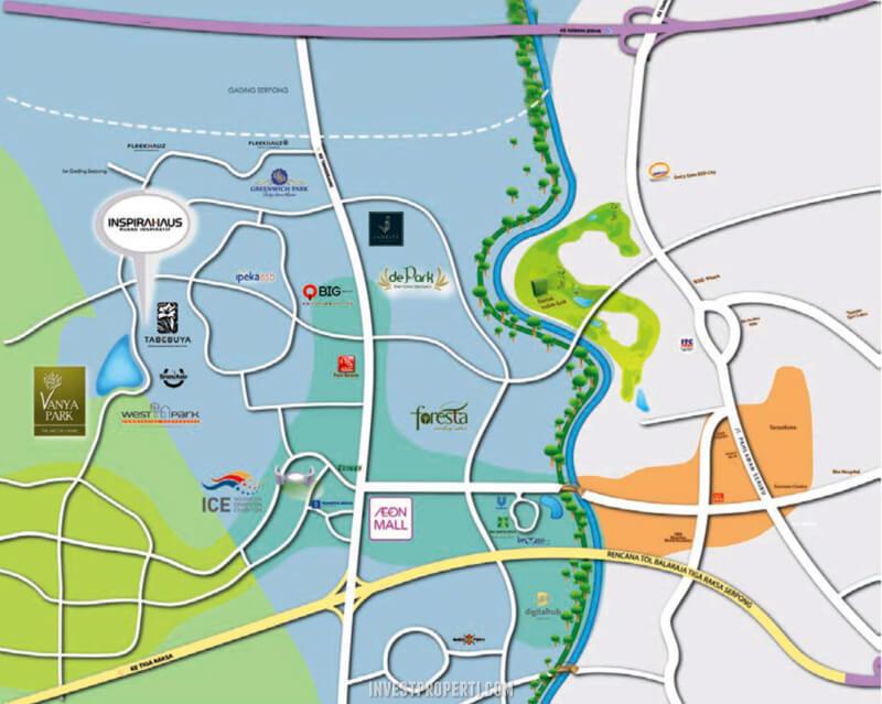 Peta Lokasi Tabebuya BSD