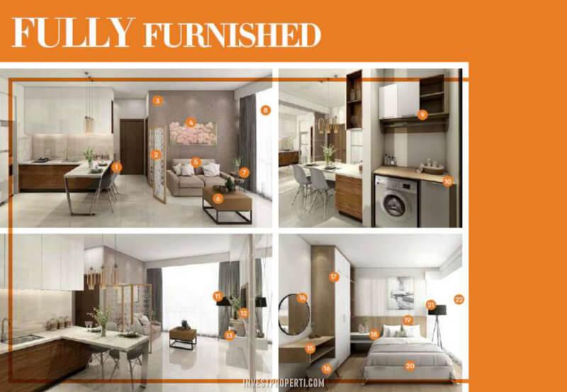 Promo Full Furnish Marigold Navapark BSD