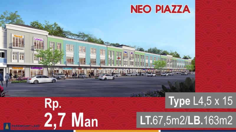 Promo Ruko Neo Piazza Paramount 2020