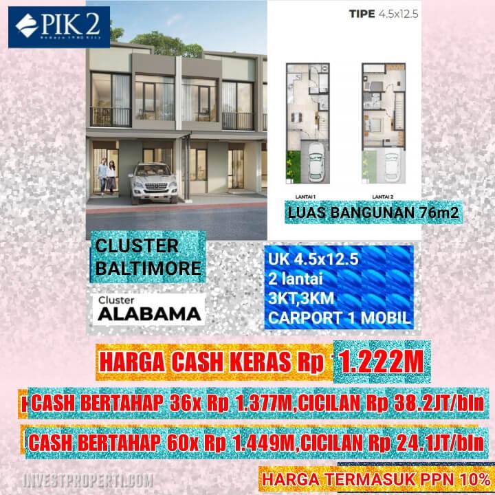 Rumah Baltimore PIK 2 Tipe 4.5x12.5