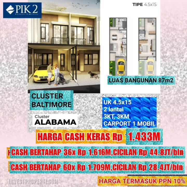 Rumah Baltimore PIK 2 Tipe 4.5x15