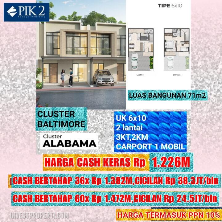 Rumah Baltimore PIK 2 Tipe 6x10