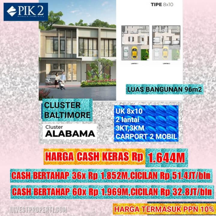 Rumah Baltimore PIK 2 Tipe 8x10