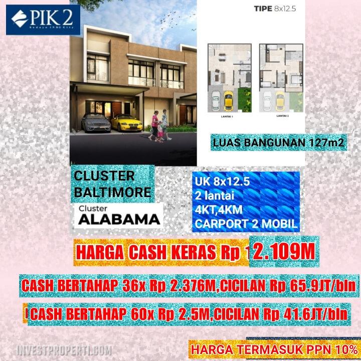 Rumah Baltimore PIK 2 Tipe 8x12.5