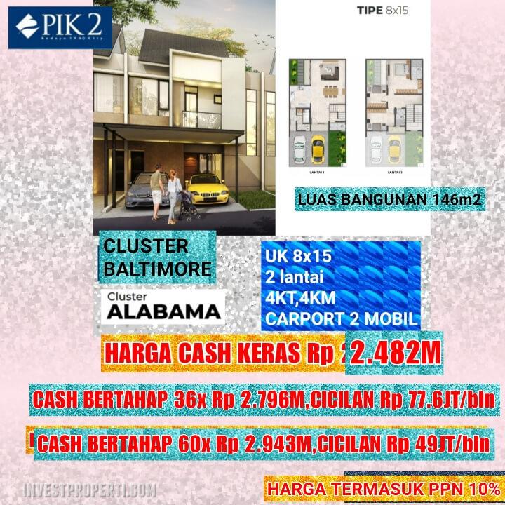 Rumah Baltimore PIK 2 Tipe 8x15