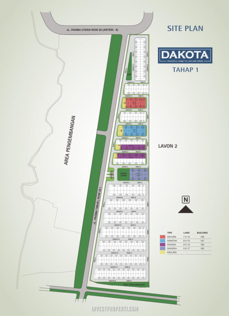 Siteplan Cluster Dakota Suvarna Sutera