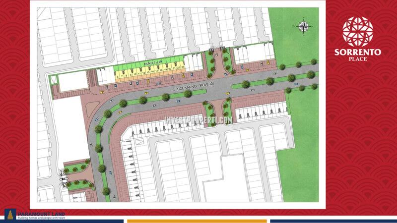 Siteplan Ruko Sorrento Place Paramount 2020