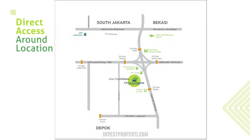 Akses Ke Apartemen Citra Landmark Ciracas Jakarta