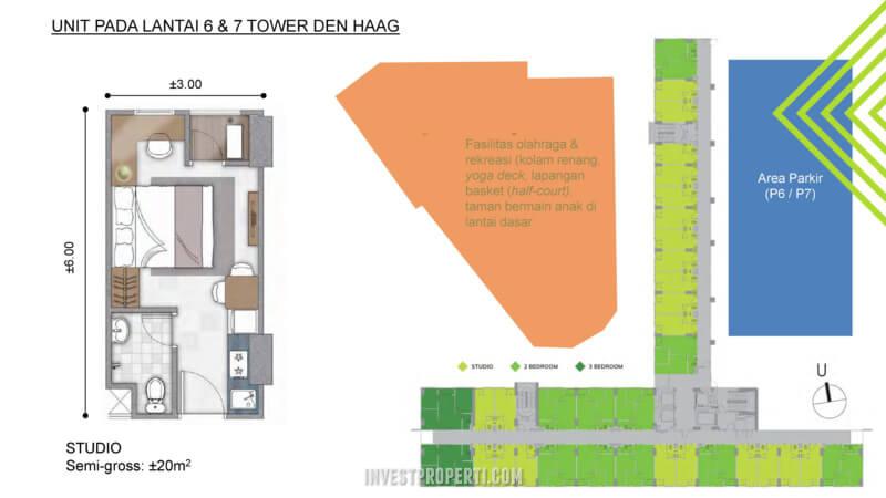 Apartemen Citra Landmark Tower Denhaag Lantai 6-7