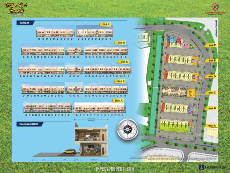 Blok Plan Arcadia Grande Paramount Land