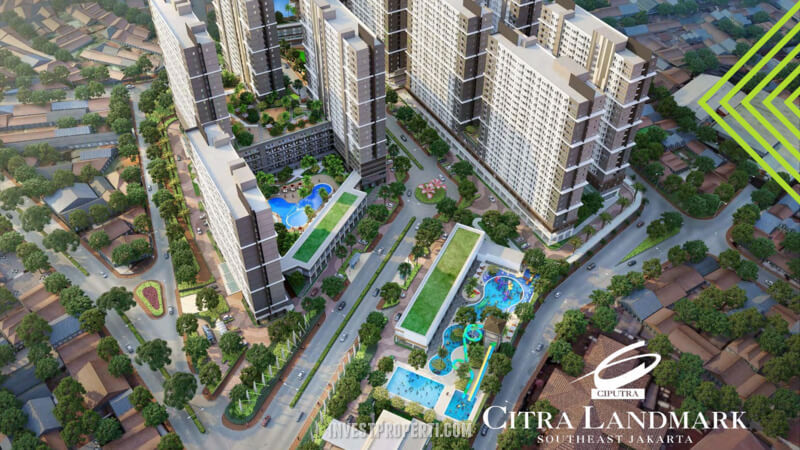 Citra Landmark Ciracas Apartemen Bird Eye View