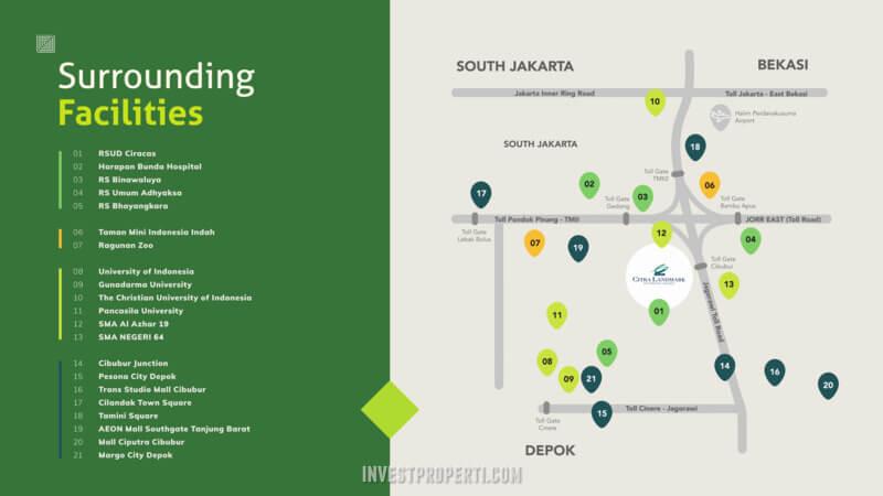 Fasilitas Sekitar Citra Landmark Jakarta
