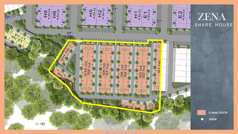 Kost Zena at Mozia (Shared House) SitePlan