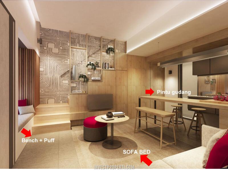 Rumah InvensiHaus BSD - Living Room