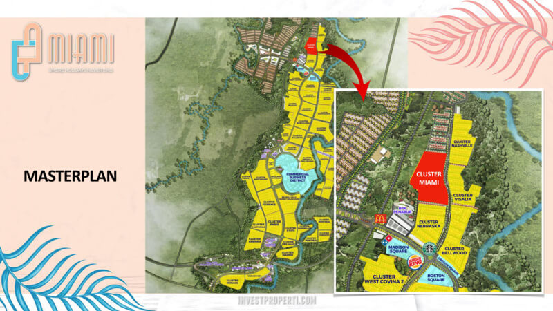 Lokasi Cluster Miami Kota Wisata Cibubur