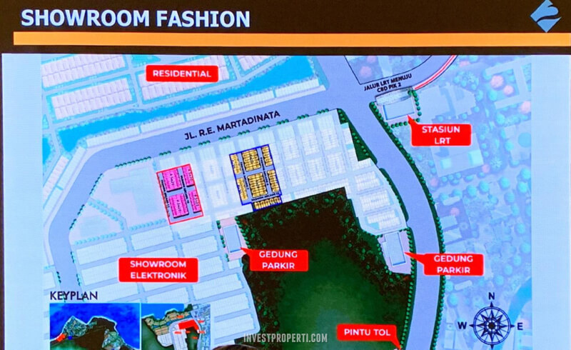 Posisi Showroom Fashion PIK2