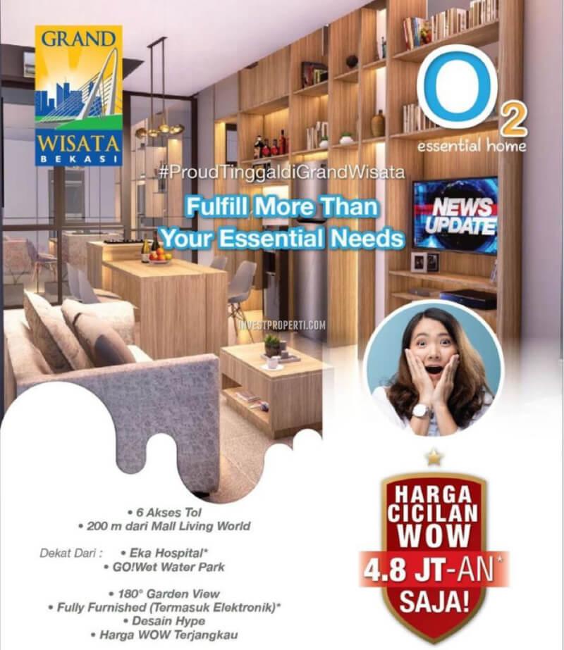 Promo Rumah O2 Essential Home Grand Wisata Bekasi