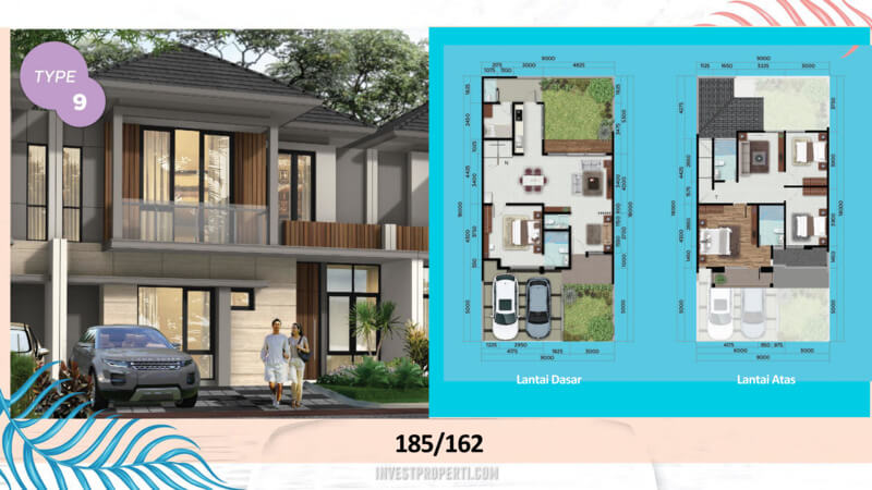 Rumah Cluster Miami Kota Wisata Cibubur Tipe 9 -01