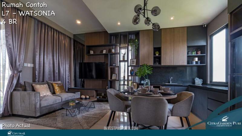 Rumah Contoh Elecio Citra Garden Puri L7 Livingroom
