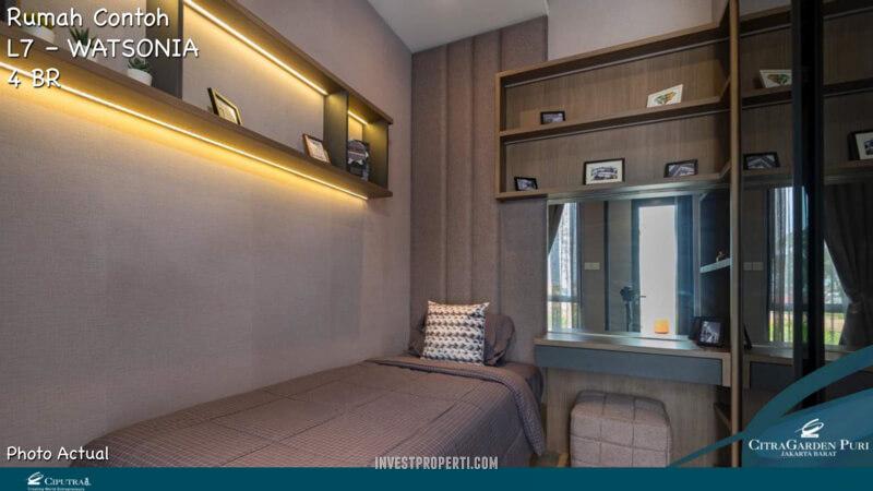 Rumah Contoh Elecio Citra Garden Puri L7 Master Bedroom